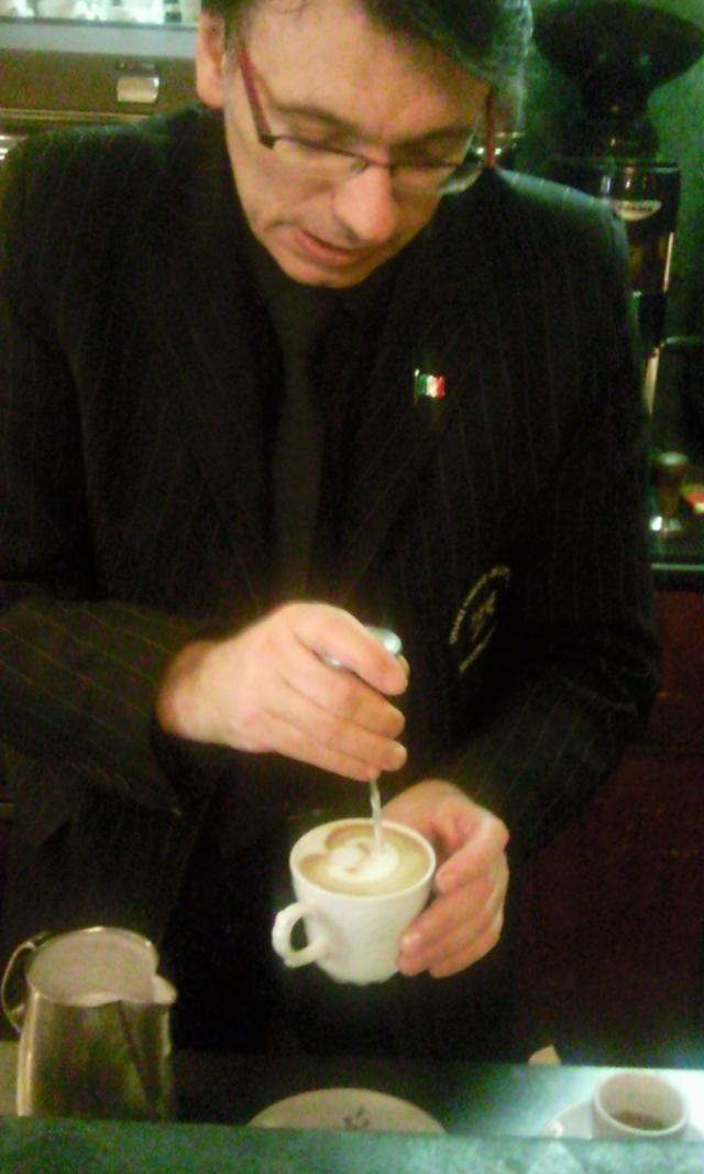 Meastro Barista Vito Schiavo at Cafe Orientale Parma